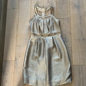 Gold cocktail party dress